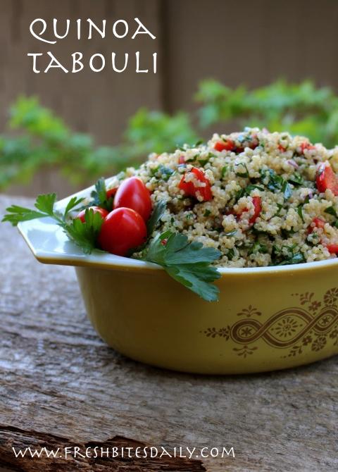A gluten-free quinoa tabouli-inspired salad