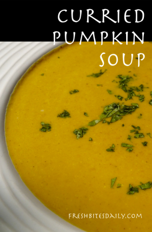 Curried Pumpkin Soup at FreshBitesDaily.com