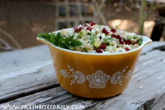 A tabouli-like salad for the cooler months (and gluten free as a bonus)