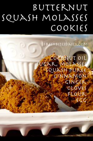 Butternut Molasses Cookies at FreshBitesDaily.com