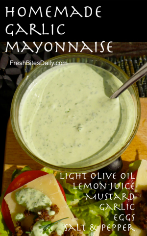 Homemade Mustard Garlic Aioli | Homemade Recipes http://homemaderecipes.com/course/appetizers-snacks/19-unique-homemade-mayo-recipes