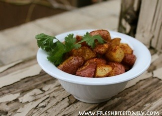 You may be tempted to snack on these potatoes all day, potato-chip style, especially with this super spice