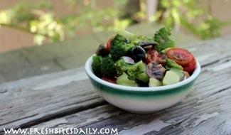 Not your everyday broccoli deli salad