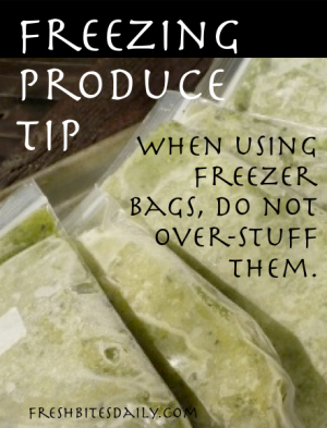 Freezing Produce Tip at FreshBitesDaily.com