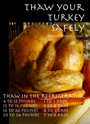 Turkey Thawing Tip at FreshBitesDaily.com