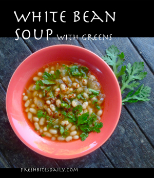 This white bean soup comes alive with garden greens