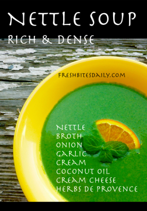 Rich & Dense Nettle Soup at FreshBitesDaily.com