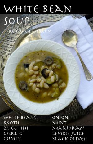 White Bean Soup at FreshBitesDaily.com