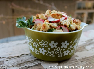 A bright cauliflower salad for winter and spring