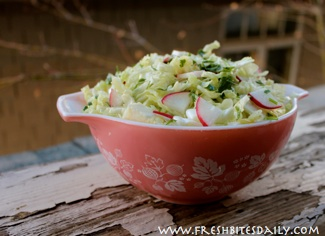 This cabbage salad is light, bright, and fresh with a delicate combination of flavors