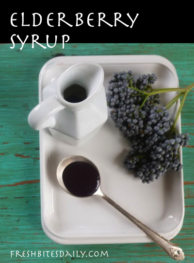 Elderberry Syrup Recipe to Fight the Flu (or Just For Good Eating) with Fresh or Dried Elderberries