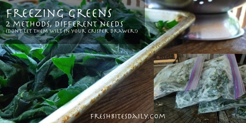 How To Freeze Greens Spinach Kale Collards Swiss Chard And More Fresh Bites Daily