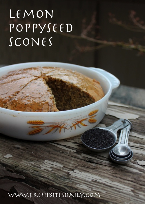 Simply delicious lemon poppy seed scones