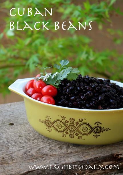 Cuban-inspired black beans