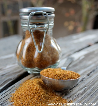 A roasted curried chicken made possible with this special rub...
