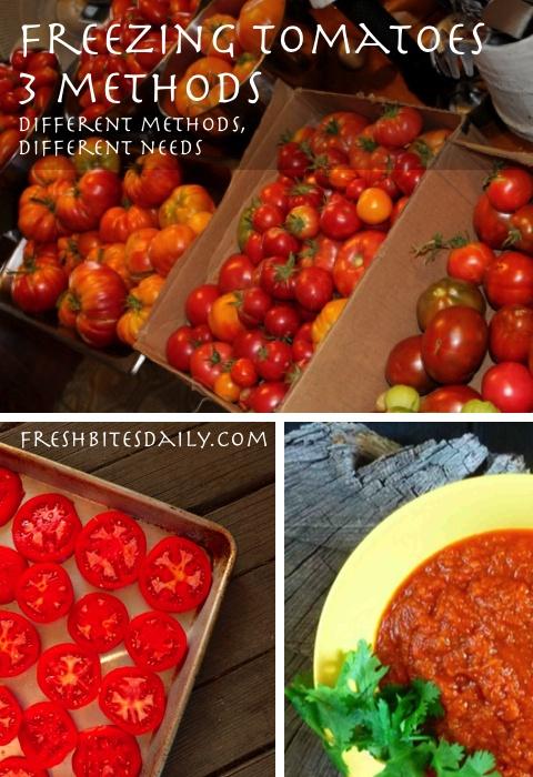 Freezing Tomatoes 3 Ways To Preserve The Tomato Harvest Fresh Bites Daily