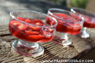 Hibiscus Strawberry Gelatin Dessert at FreshBitesDaily.com