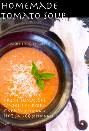 Homemade Tomato Soup at FreshBitesDaily.com