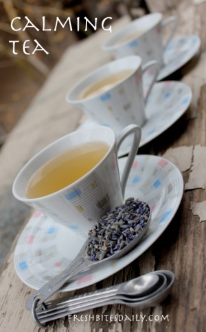 You may feel calm just looking at the picture of this calming tea