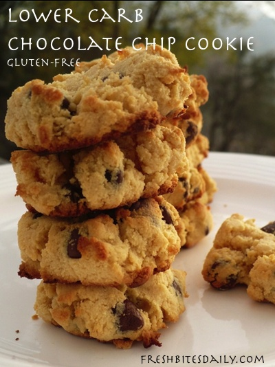 A lower-carb chocolate chip cookie (gluten-free to boot)