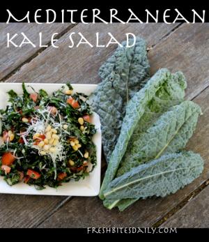 Mediterranean Kale Salad at FreshBitesDaily.com