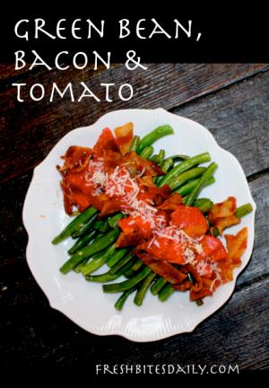 Green Bean, Bacon, and Tomato Salad at FreshBitesDaily.com