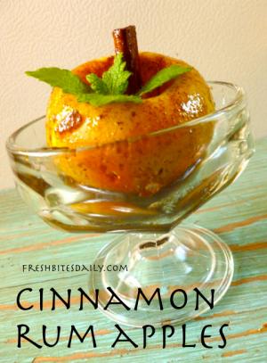 Cinnamon Rum Apples at FreshBitesDaily.com