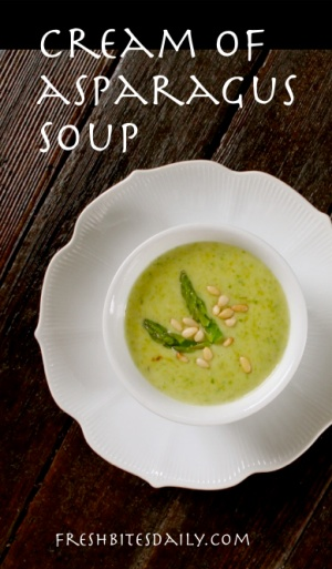 A cream of asparagus soup sophistocated enough for adults ...