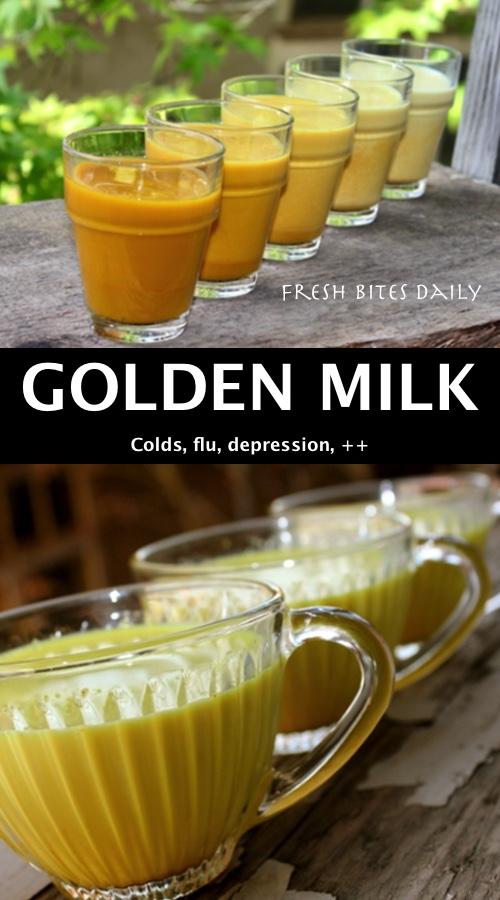 "Turmeric milk (""golden milk"") for cold, flu, depression, and more!"