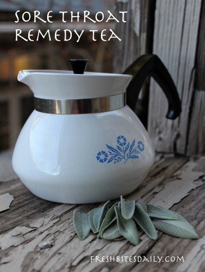 This tea really does help a sore throat (who knew...) and the plant may be right in your kitchen garden