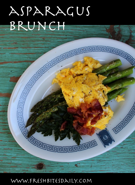 Your next brunch recipe is right here, complete with asparagus and eggs