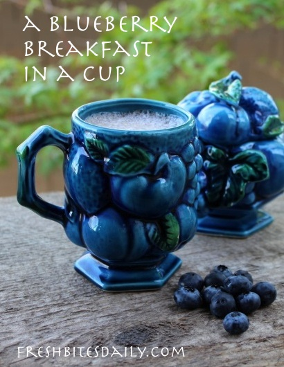 A blueberry breakfast in a cup at FreshBitesDaily.com