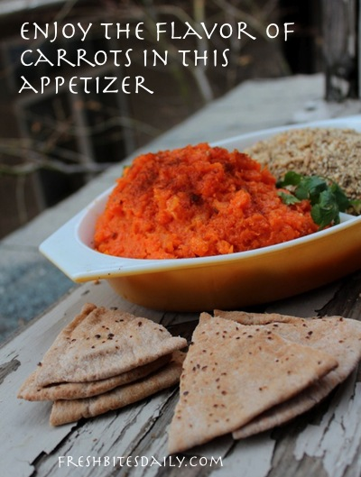 Enjoy carrots in a new way in this carrot puree appetizer