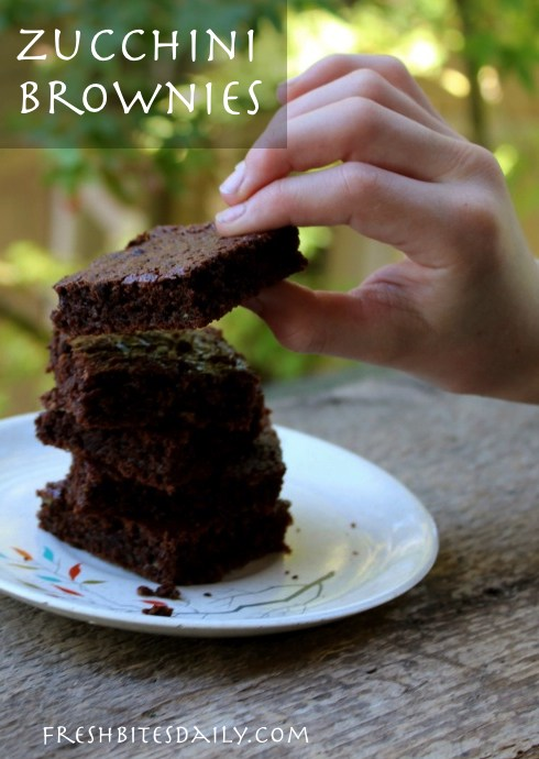 Get some of that summer produce packed into a chocolate brownie. Right now. ;)