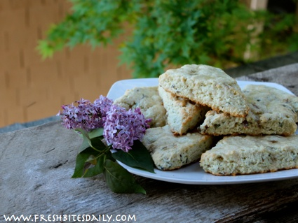 Simple lilac-infused scones for your next special brunch