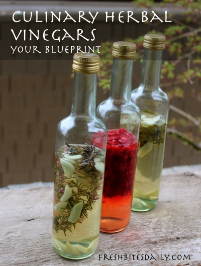 Your new go-to blueprint for homemade herbal culinary vinegars