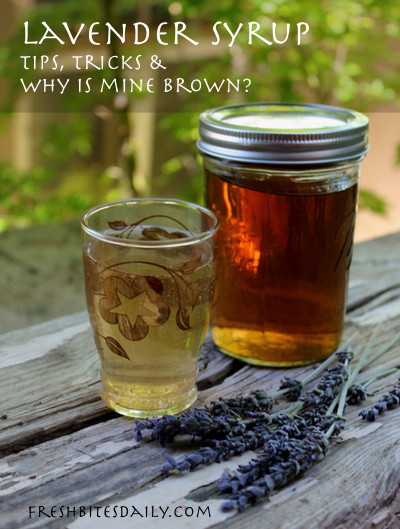 "Lavender syrup with an answer to the age-old question: ""Why is it *brown*?"""