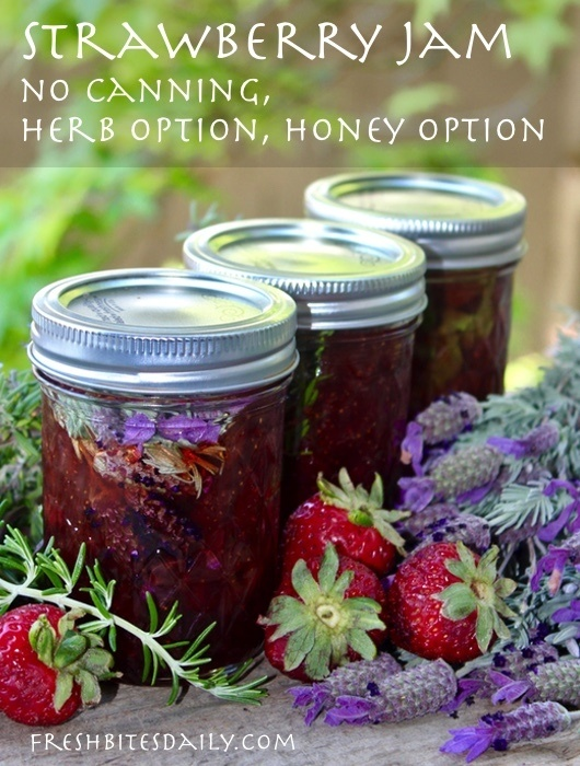 Strawberry Jam: A Quick No-Canning Solution, Honey and Herb Options!