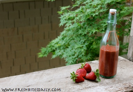 A versatile strawberry vinaigrette for salads and sauces