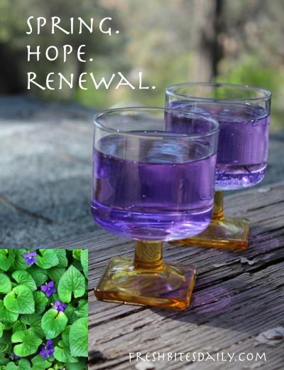 Violets. Spring. Hope. Renewal. Frivolity.