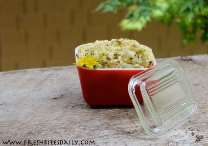 Potato dandelion salad -- A twist on the classic potato salad