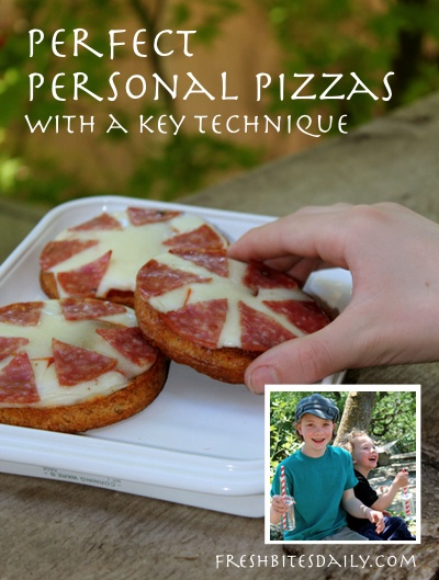 Perfect personal pizzas (the key step you may be missing)