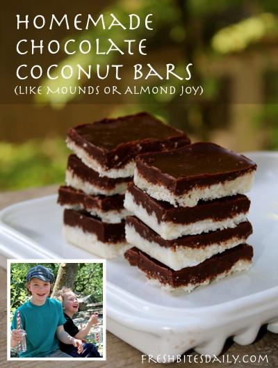 Homemade Mound's / Almond Joy - type deliciousness
