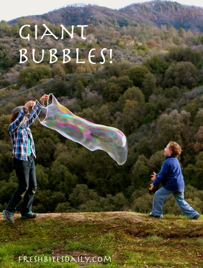 You can make giant bubbles with a simple secret ingredient